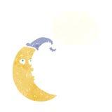 与想法泡影的困月亮动画片 免版税图库摄影