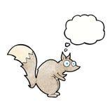 与想法泡影的滑稽的被震惊的灰鼠动画片 免版税库存照片