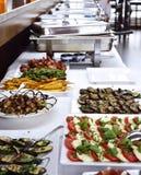 与意大利开胃小菜的党自助餐 免版税库存图片