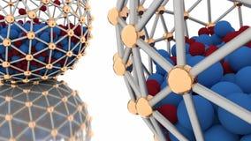与意想不到的球形的抽象CGI行动图表 库存例证