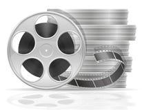 与戏院库存电影胶片传染媒介例证的卷轴 库存例证
