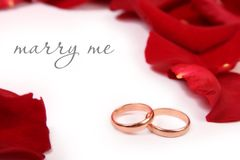 与我结婚 库存照片