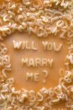 与我结婚u将 库存照片