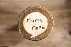 与我结婚 免版税库存照片