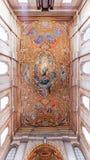 与我们的圣母无染原罪瞻礼的夫人的图象的被绘的天花板在圣塔伦看见大教堂 免版税库存图片