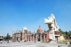 与我们的瓜达卢佩河, Mexi的玛丽Anchient大教堂的正方形  库存图片