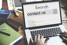 与我们联系信息服务顾客关心概念 免版税库存图片