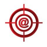 与我们联系目标标志概念例证 免版税库存图片