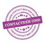 与我们联系!荷兰语语言:Contacteer ons! 免版税库存图片