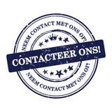 与我们联系!荷兰语语言:Contacteer ons! 库存照片
