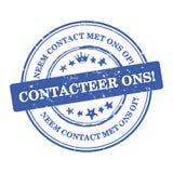 与我们联系!荷兰语语言:Contacteer ons 库存照片