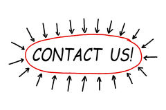 与我们联系! 库存照片