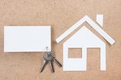 与房子形象的空白的名片 实际概念的庄园 顶视图 库存照片
