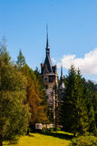 与房子的农村风景在特兰西瓦尼亚,罗马尼亚 免版税库存图片