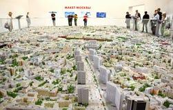 与所有街道的莫斯科模型 图库摄影