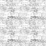 与手写的数学公式的无缝的不尽的样式背景 免版税图库摄影
