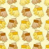 与手套的无缝的模式 免版税库存照片