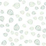 与手拉的叶子的抽象印刷品 传染媒介叶子无缝的样式 包裹和织品的典雅的自然装饰品 免版税库存照片