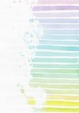 与手拉的条纹梯度纹理的垂直的背景,不完美,粒状,明亮,在淡色的白色水彩纸 图库摄影