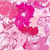 与手拉的概述赤素馨花的无缝的样式 免版税图库摄影