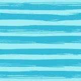与手拉的蓝色条纹的无缝的样式 免版税图库摄影