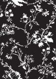 与手拉的鸦片的葡萄酒花卉无缝的样式 免版税库存照片