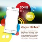 与手机的网站或页设计 库存图片
