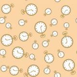 与手表573的无缝的样式 库存例证