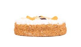 与打好的奶油的简单的饼 免版税库存图片