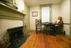 与托马斯Paine支柱的再制定  免版税图库摄影