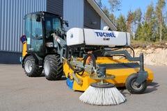 与扫除机的巨型D337T轮子装载者 免版税库存图片