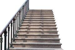 与扶手栏杆的楼梯 库存图片