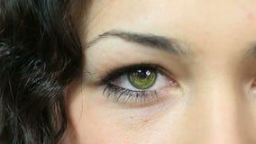 与技术的女性眼睛 股票录像