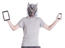 与技术的狼 免版税库存图片