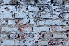 与抓痕和镇压的砖纹理 免版税库存图片