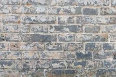 与抓痕和镇压的砖纹理 库存照片