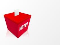 与投票箱的美国Day总统庆祝 库存照片