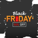 与折扣50%的黑星期五销售 也corel凹道例证向量 免版税库存照片