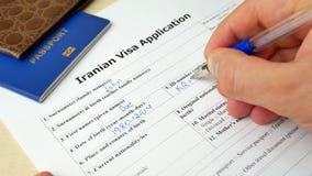 与护照的伊朗签证文件,申请和外国人国家的允许 影视素材