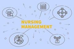 与护理manageme的词的概念性企业例证 向量例证
