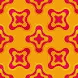 与抽象五颜六色的形状的无缝的样式 免版税图库摄影