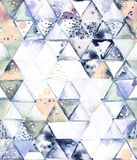 与抽象几何三角的无缝的样式 皇族释放例证