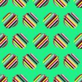 与抽象几何样式的无缝的背景 抽象数字式小故障图表 免版税库存图片