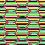 与抽象几何样式的无缝的背景 抽象数字式小故障图表 图库摄影
