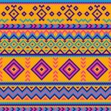 与抽象几何设计的无缝的部族样式 向量例证