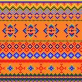 与抽象几何设计的无缝的部族样式 皇族释放例证