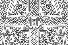 与抽象凯尔特艺术的彩图页 免版税库存照片