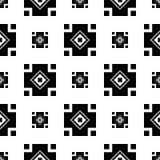 与抽象图的无缝的黑白装饰背景 库存照片
