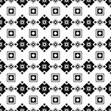 与抽象图的无缝的黑白装饰背景 图库摄影
