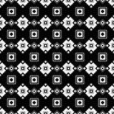 与抽象图的无缝的黑白装饰背景 免版税图库摄影